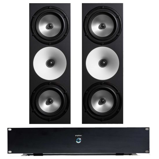 Amphion Two15 and Amp700 Powered Studio Monitors - Front