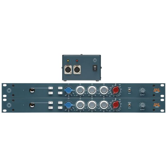 BAE 1066D Mic Preamp and EQ Pair (incl. PSU)