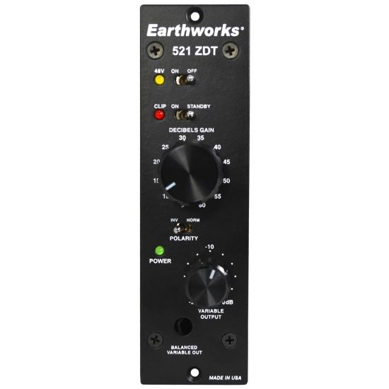 Earthworks 521 ZDT 500-Series Mic Preamp