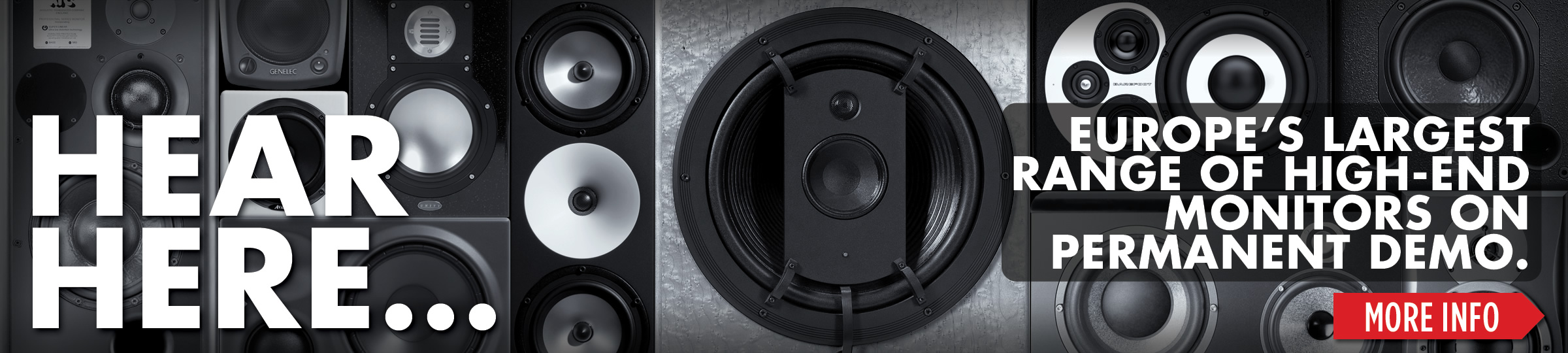 Largest Range of Professional Studio Monitors
