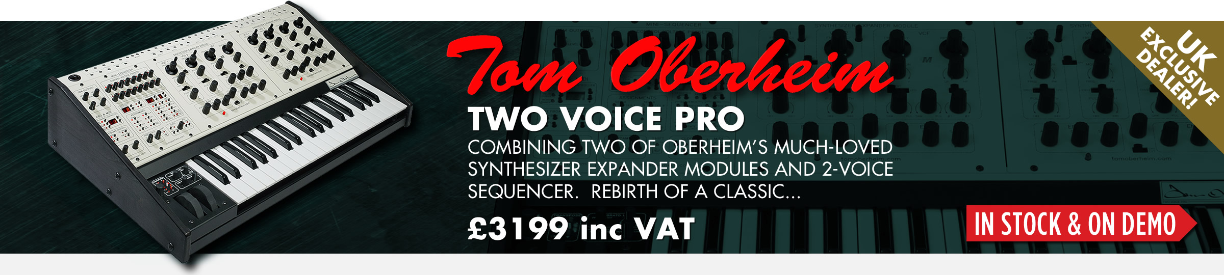 Tom Oberheim Two Voice Pro Analogue Synthesizer