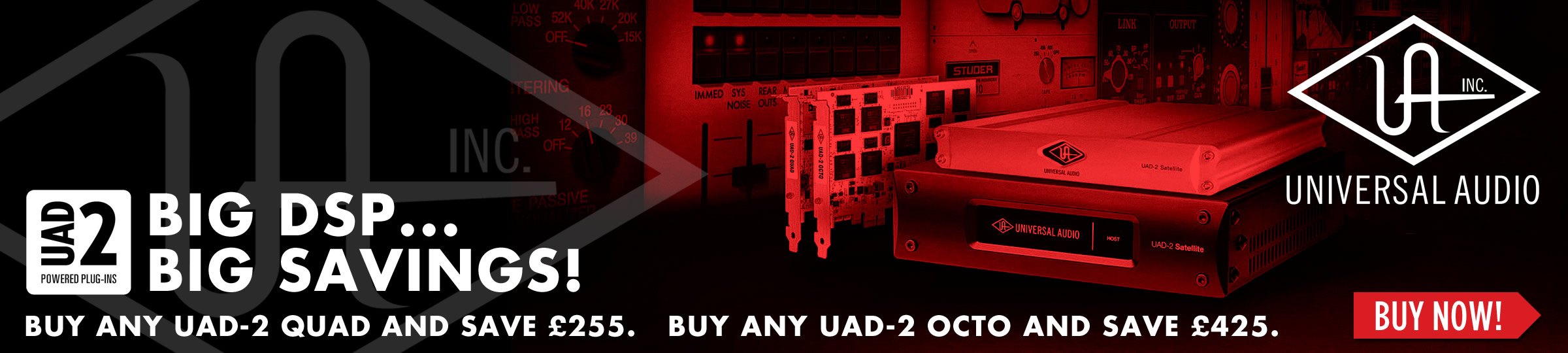 Save 20% on UAD-2 Powered DSP
