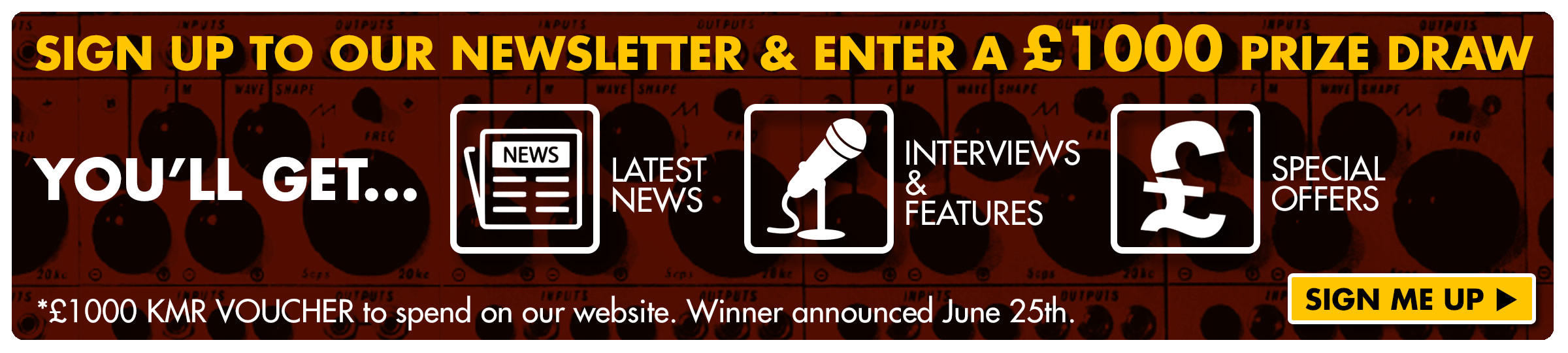 KMR Newsletter Signup