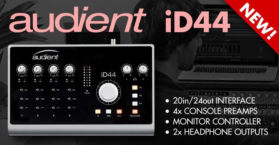 New Audient ID44 20x24 USB Audio Interface