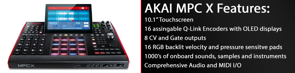 Akai MPC X Features