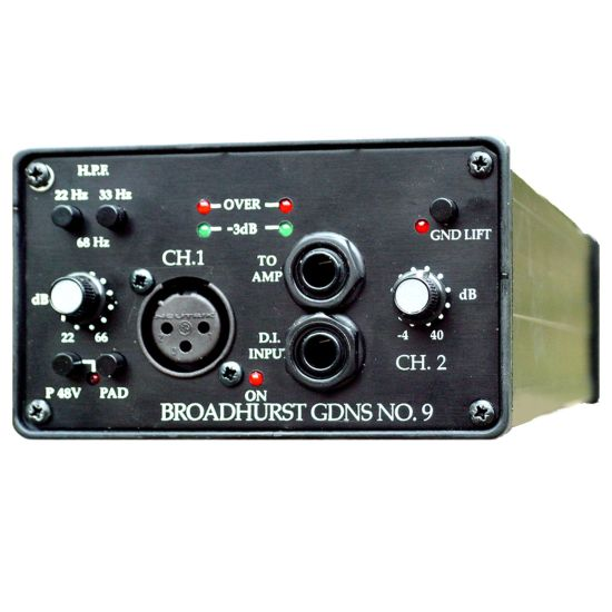 DAV Electronics BG9 Mic Preamp and D.I. - Front