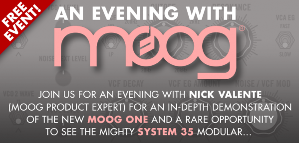 An evening with Moog @ KMR Audio 09/04/2019