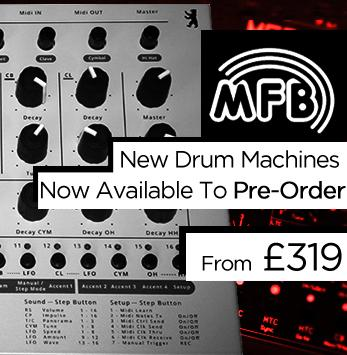 The NEW MFB Drum Machines are available to pre-order
