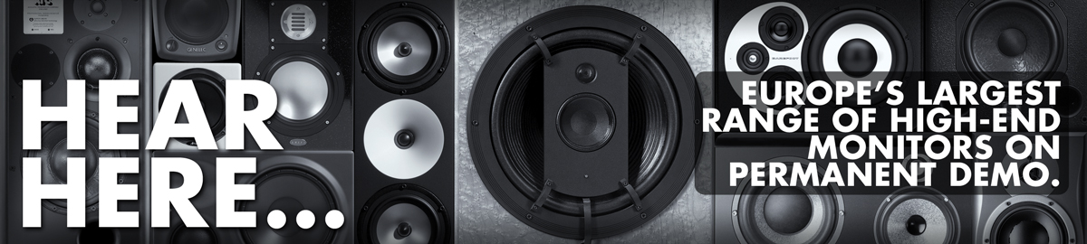 Hear Here: The Largest Range of Professional Studio Monitors in Europe