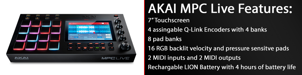 Akai MPC Live Features