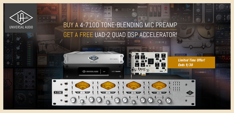 Universal Audio 4-710d and FREE UAD-2 Quad