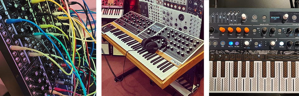 Synthesizers on demo
