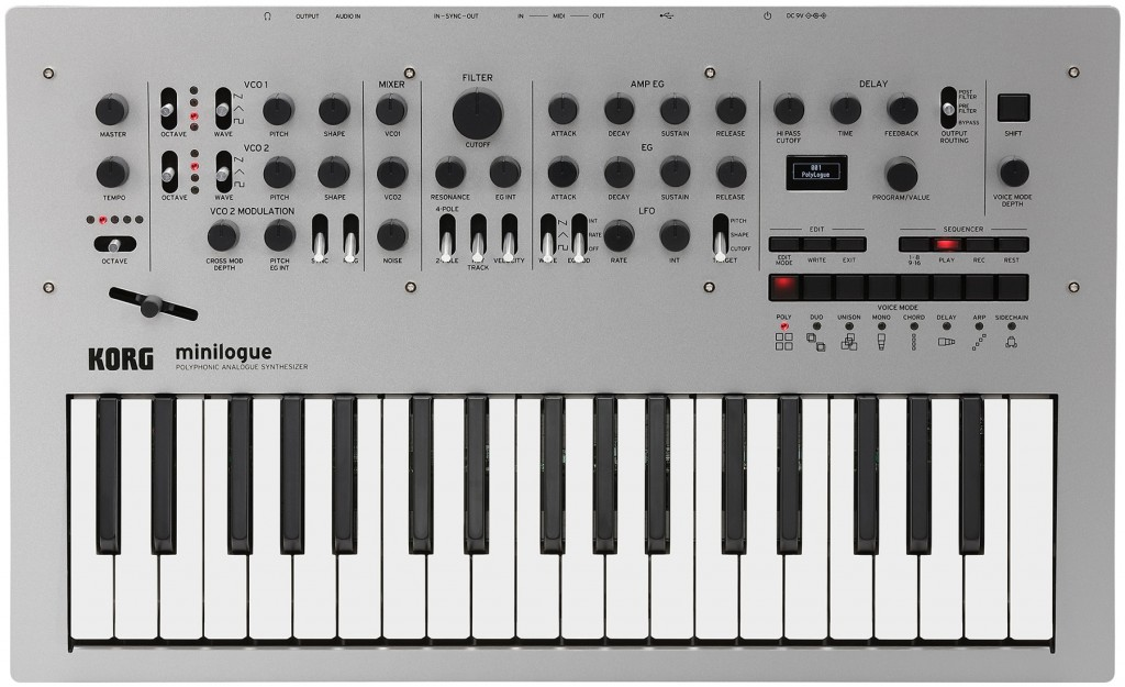 The new Minilogue from Korg, rather pretty wouldn't you agree?