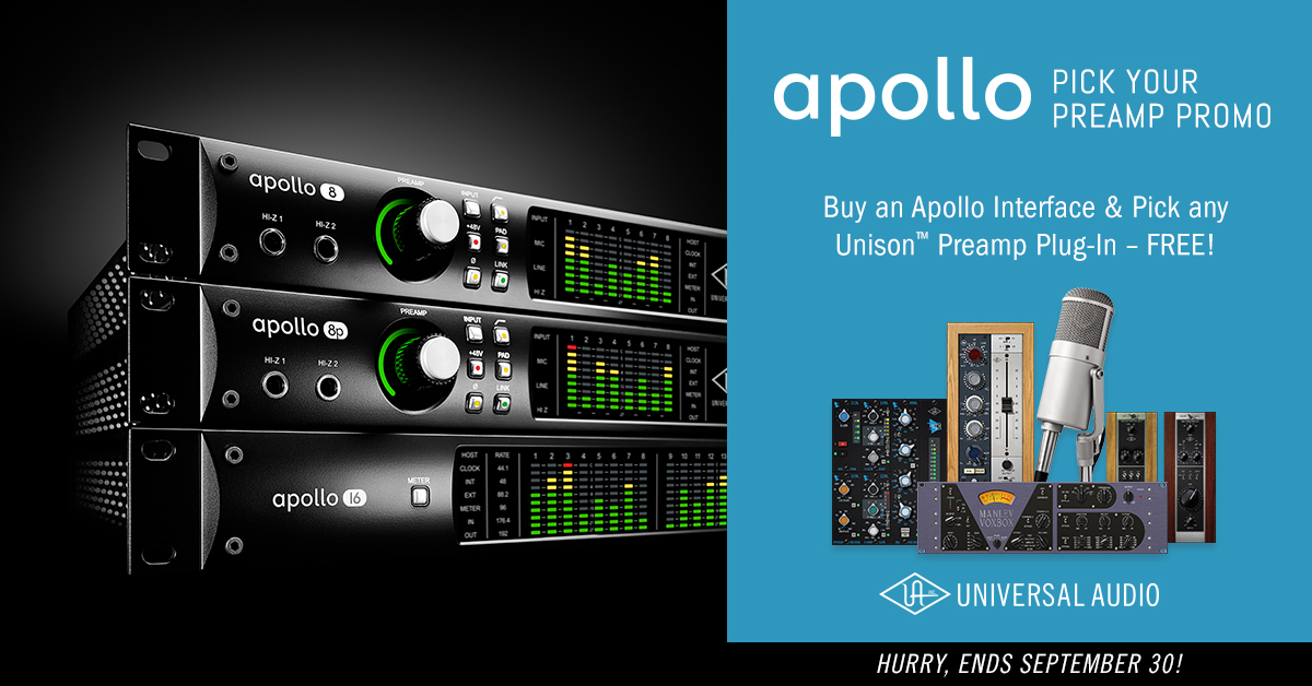 Free UAD Unison Plug-in with Apollo Interfaces / KMR Audio News
