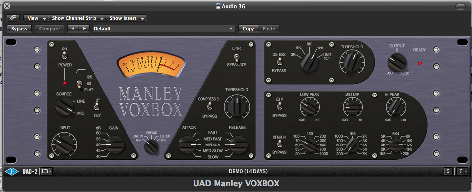 UAD VoxBox Review - Acoustic Guitar Setting