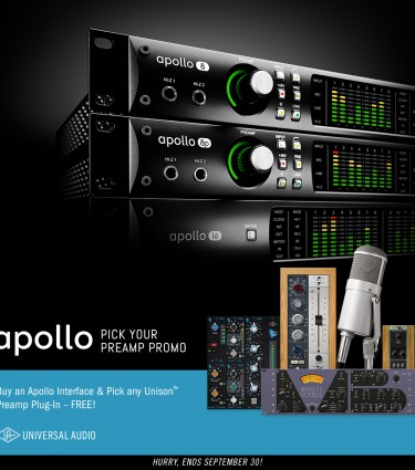 Free UAD Unison Plug-in with Apollo Interfaces