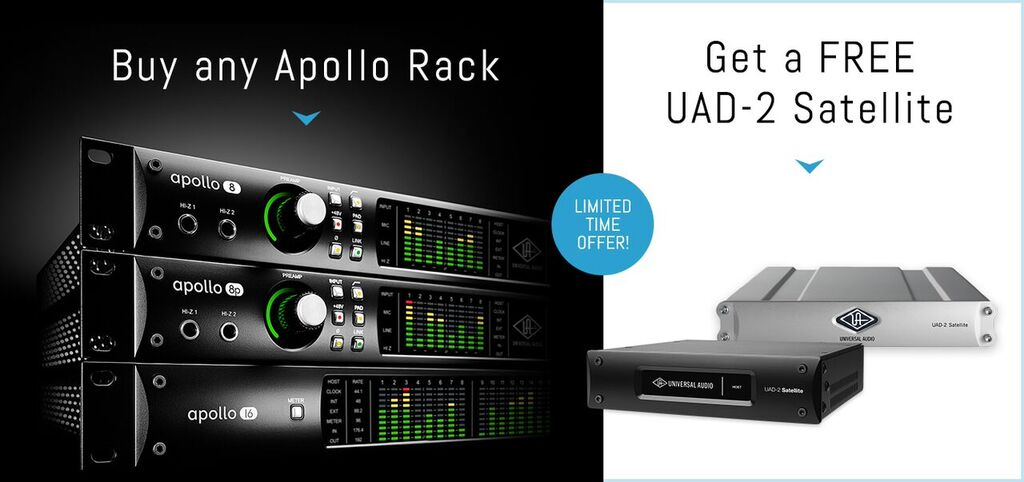 Free UAD-2 Quad with Apollo Rack interface