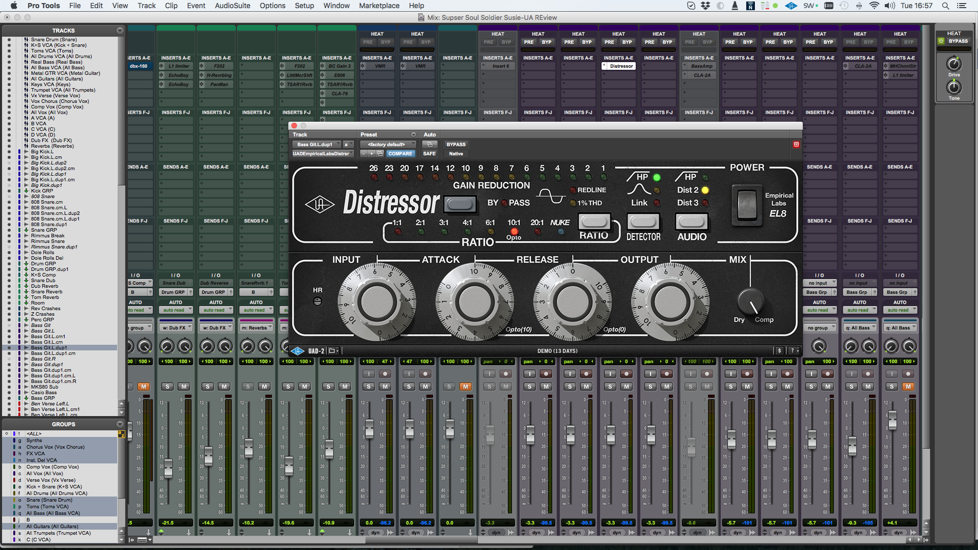 Distressor bass settings