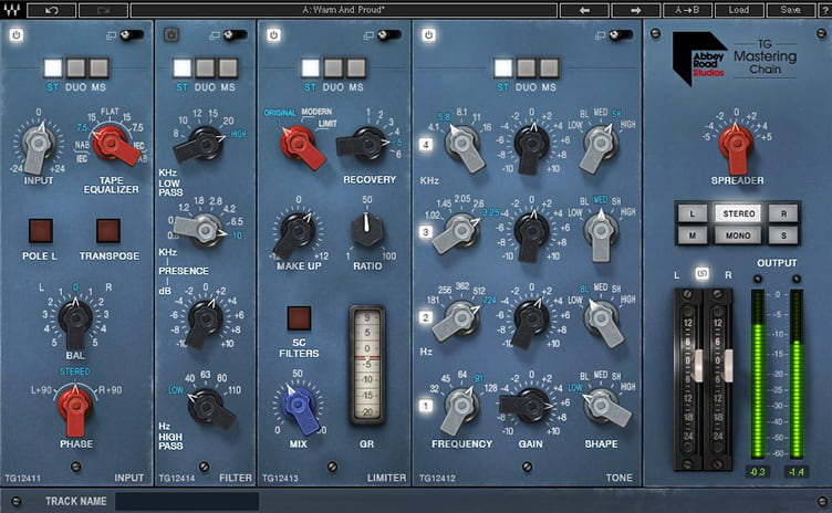 KMR Waves TG Mastering Plugin