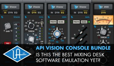 API VISION CONSOLE BUNDLE - Is This The Best Mixing Desk Emulation Yet?